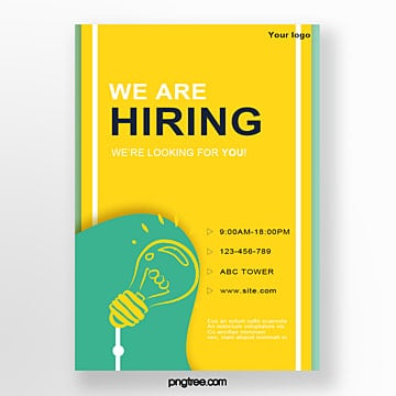 hand painted geometric recruitment talent poster Template