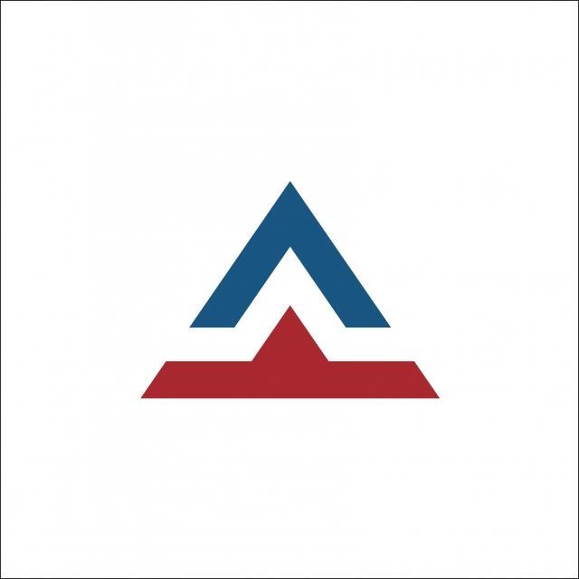 Inisiatif Template Vektor Logo Surat Segitiga Templat Untuk