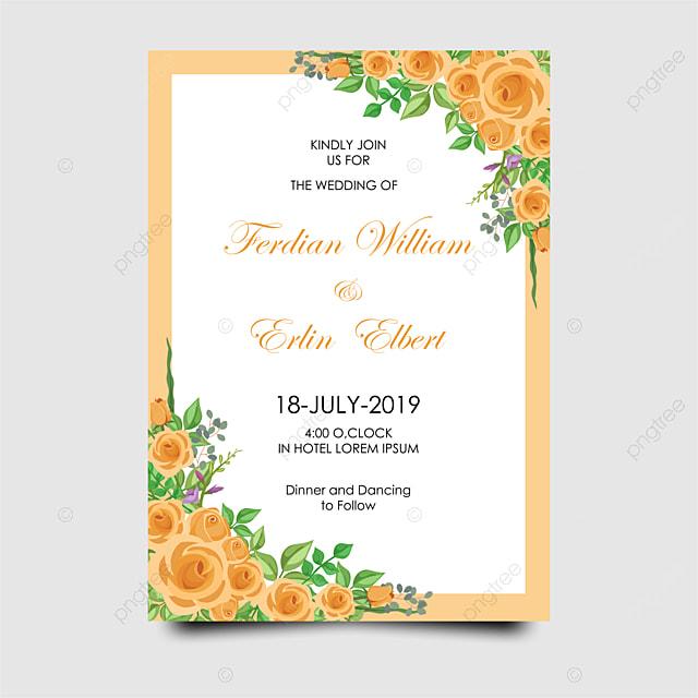 Modèle De Carte Invitation Mariage Rose Modèle De