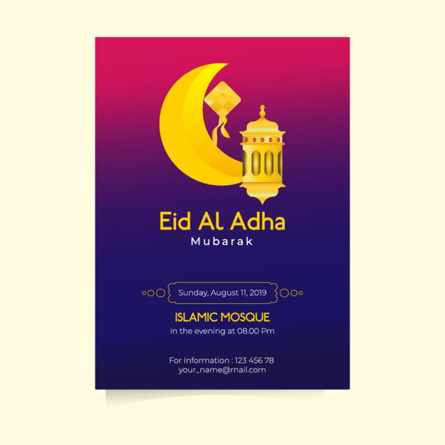 golden lantern eid al adha flyer Template for Free Download on Pngtree