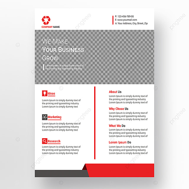 stylish simple flyer design template for free download on