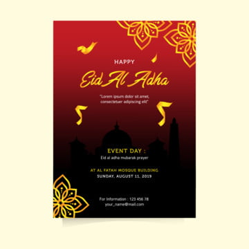 decoration eid al adha flyer Template