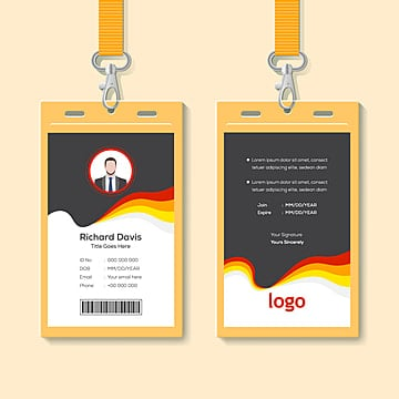 Creative Gold And Black Id Card Design Template Template For