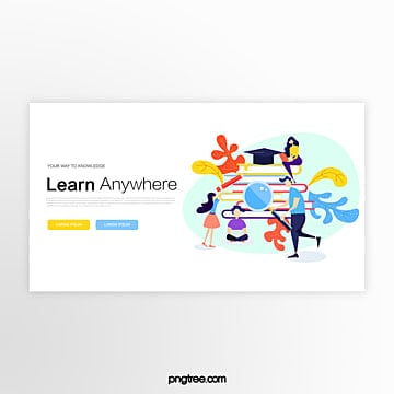learning scene education website banner Template