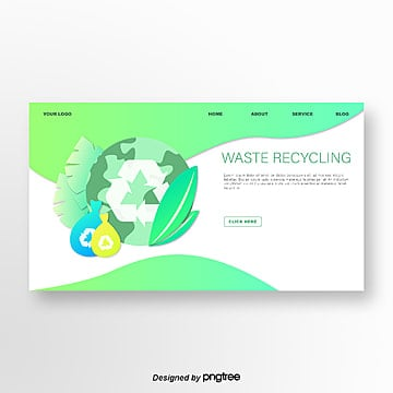 green earth environmental illustrator website landing page Template