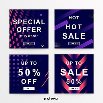 blue gradient geometric promotion banner Template
