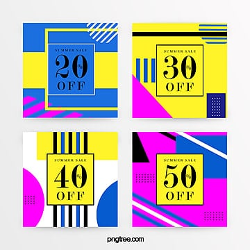 bright color geometric promotion banner Template