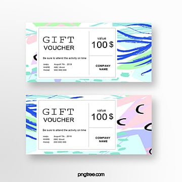 color fashion gift voucher Template