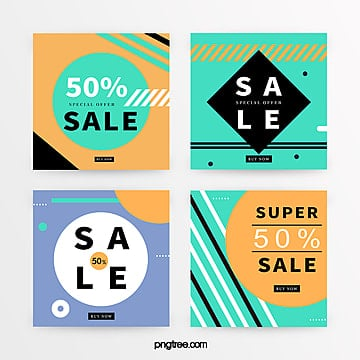 color geometric promotion banner Template