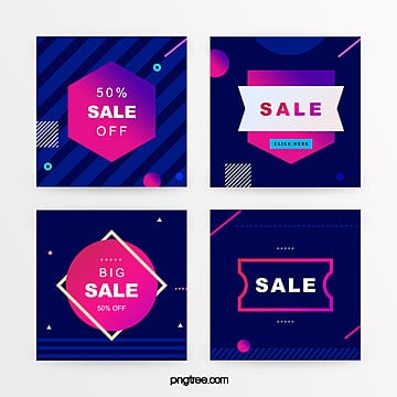 color gradient geometry promotion banner Template