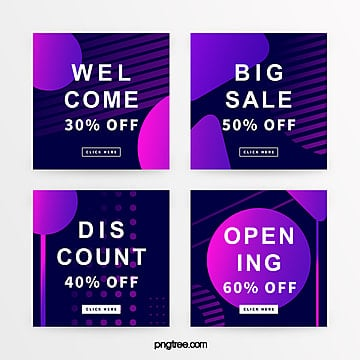 creative purple gradient promotion banner Template