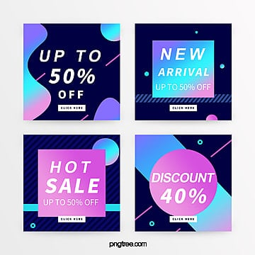 creative trend gradient promotion banner Template