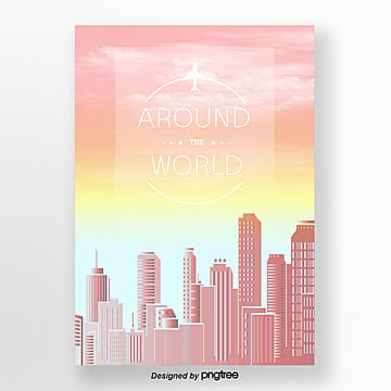 fresh gradient travel poster Template