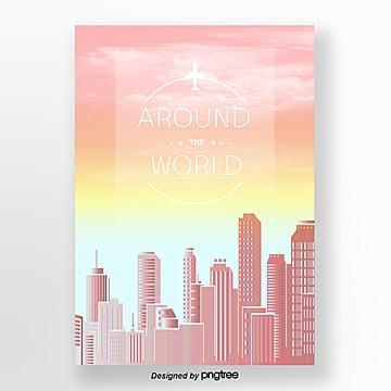 fresh gradient travel poster Template