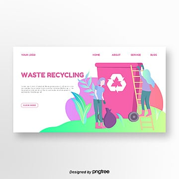 gradient color matching creative environmental illustration website landing page Template