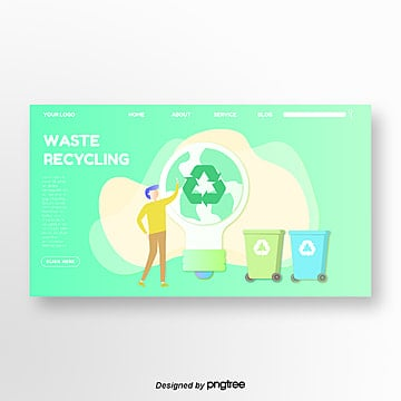 green earth simple and green illustrator homepage Template