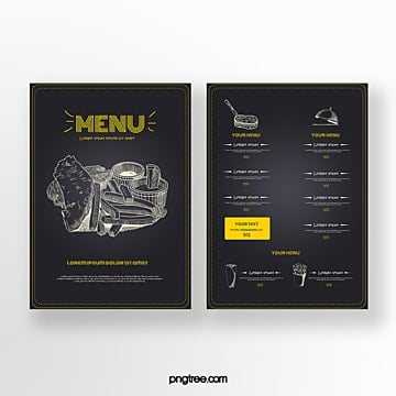 hand drawn business restaurant food chalkboard menu Template