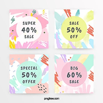 macaron color graffiti promotion label Template