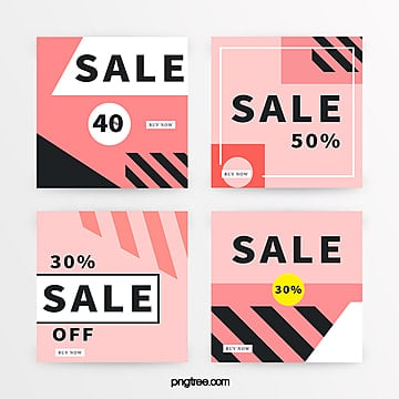 pink geometric promotion banner Template