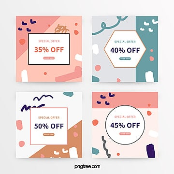 simple color graffiti promotion banner Template