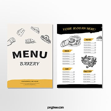 simple hand painted bakery menu Template