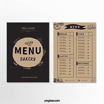 simple retro baking shop menu Template