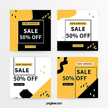 yellow graffiti promotion banner Template