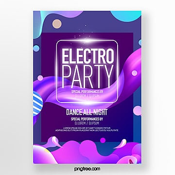 fluid style fashion electronic music party poster Template