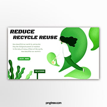 green environmental theme simple banner Template