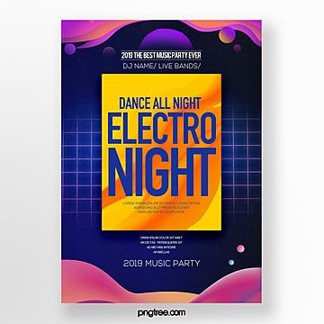 modern fashion electronic music party poster Template