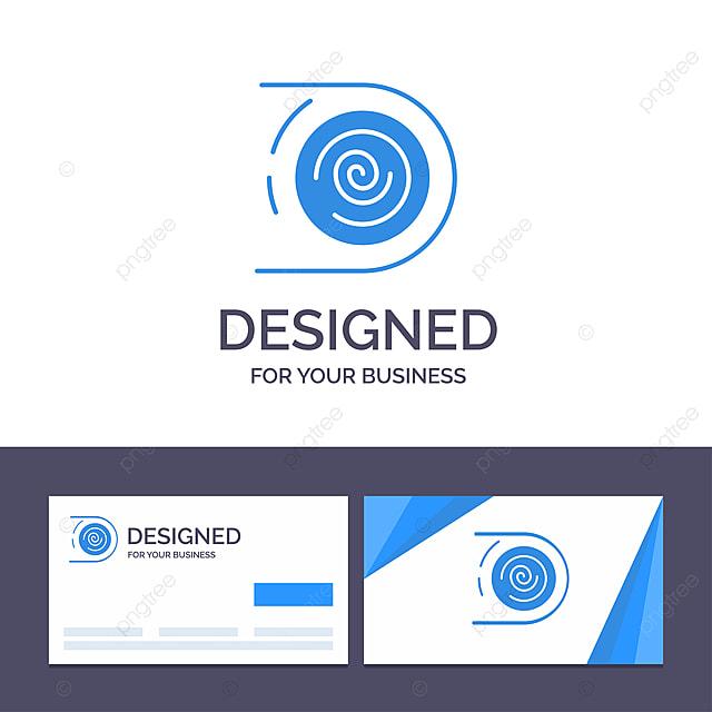 Kreative Visitenkarte Und Logo Vorlage Abstrakte Zirkulation
