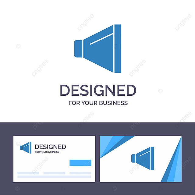 Kreative Visitenkarte Und Logo Vorlage Sound Lautsprecher