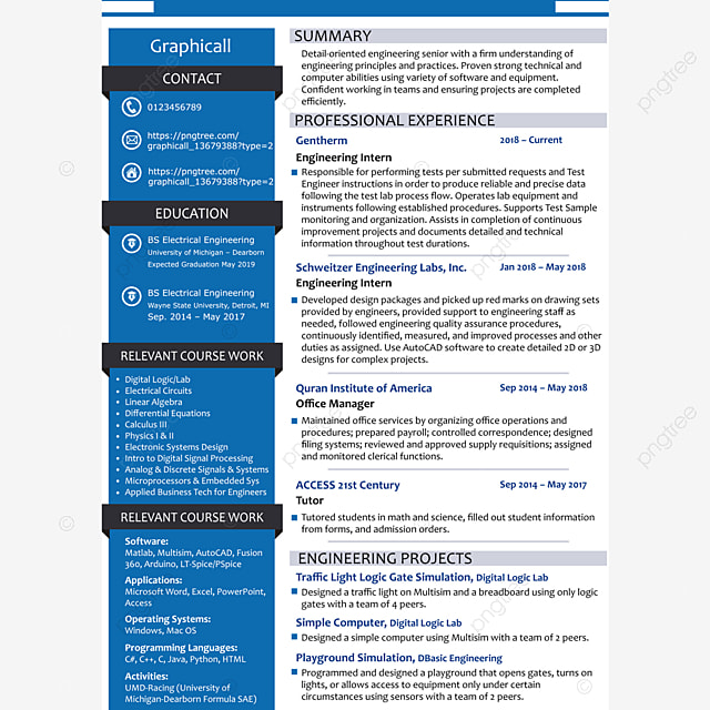 my first resume template Template for Free Download on Pngtree