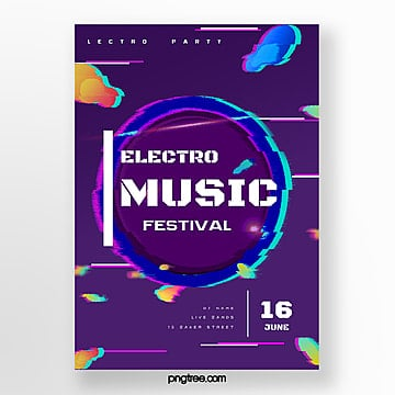 abstract gradient electric party poster Template