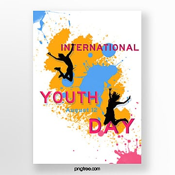 color youth festival paint splash poster template Template