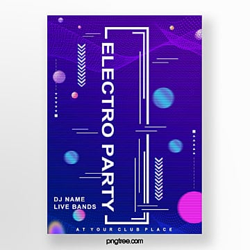 cool electronic party poster Template