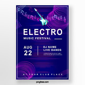 electronic futuristic creative poster Template