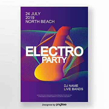 electronic music team poster Template