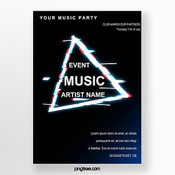 fault style music poster Template