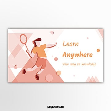 flat warm color school education sports theme banner Template