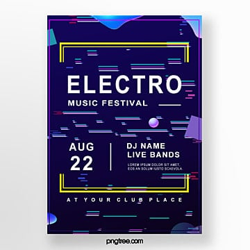 music festival party poster Template