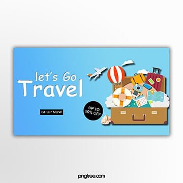 promotion travel stereo banner Template