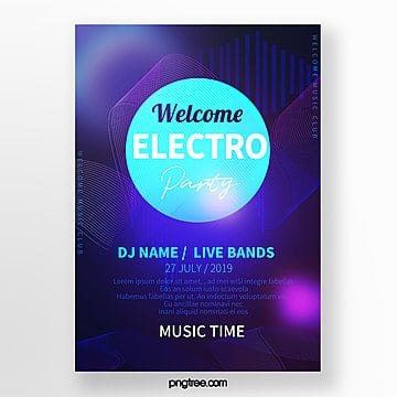 tech music sound poster Template
