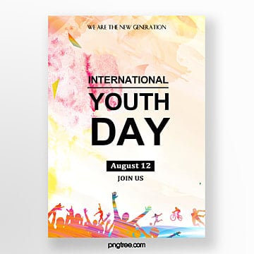 watercolor splash youth festival poster Template