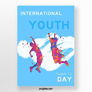 youth festival paint splash poster template Template