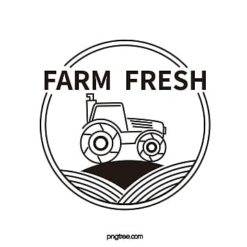 black line tractor icon Template