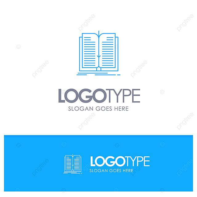 Application Fichier Transfert Livre Bleu Contour Logo Avec