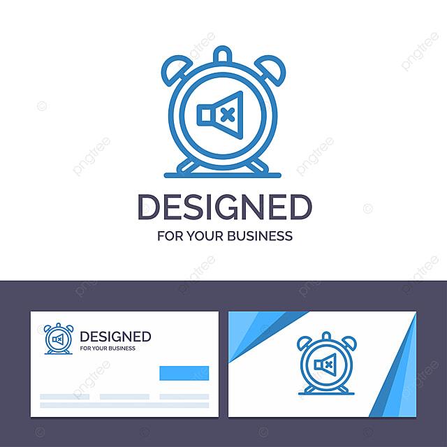 Kreative Visitenkarte Und Logo Vorlage Wecker Ausschalten