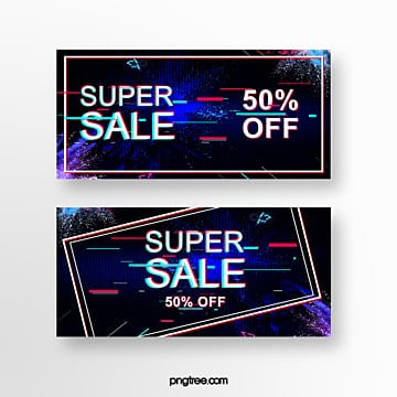 abstract fault wind discount banner Template