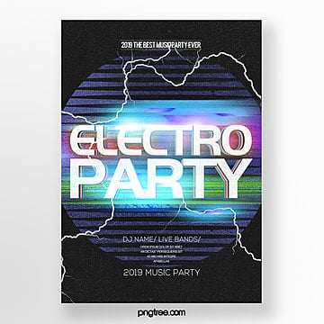 abstract personality electronic music party poster Template